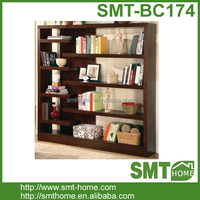 Hot Sale MDF Melmine Narrow Wood Bookcase For Decoration