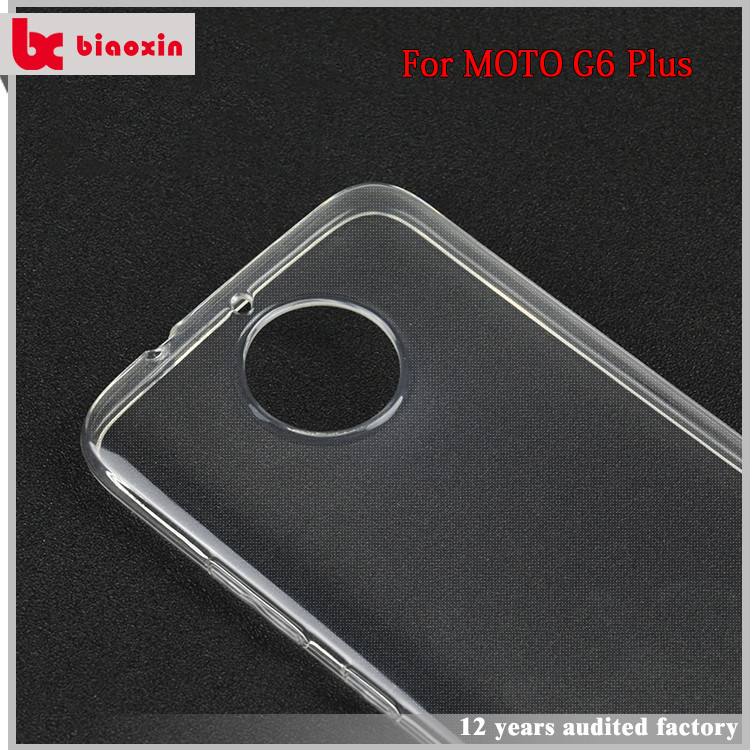 Directly factory hot selling TPU case plastic case cover for moto g6,clear phone case for motorola g6