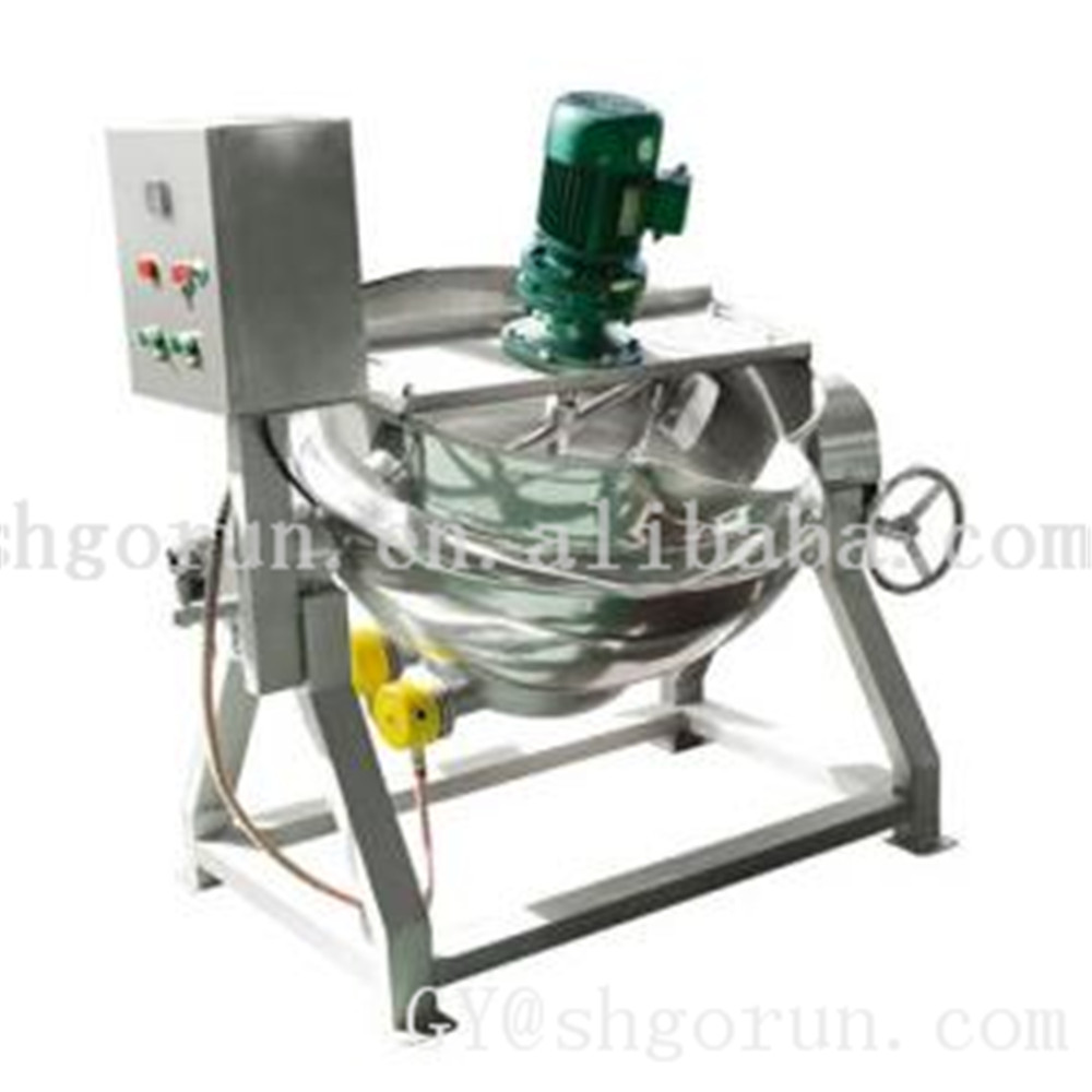 Gas Heating Mixing Machine Cooking Jacketed Kettle Stainless Steel Tilting Boil Soup Jacketed Kettle 300l Double Jacket Kettle