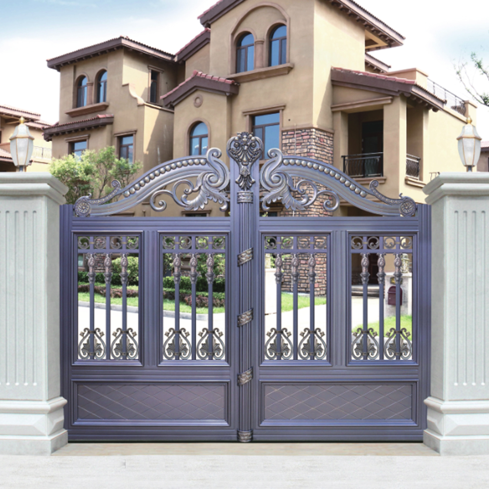 Hs Lh010 Different Colors Entrance Pillar Design Of School Gate   Buy Design  Of School Gate,Different Design Of Gate Colors,Driveway Gate Product On ...