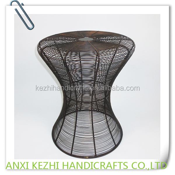 KZ150167 Wrought Iron Indoor Ornamental Black Plant Stands