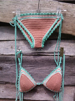 sexy ladies bikini handmade crochet beachwear