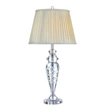 Fabric lamp shade iron decor modern classic crystal table lighting