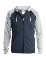 Men hit the color hooded jacket long-sleeved blank fleece 280g zipper sweater