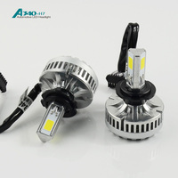 2016 the best high grade and brightest 40W 3600 Lumen h7 car led headlight square