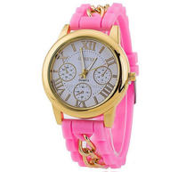 watch interchangeable ribbon straps vogue rubber strap watch band with fashion face
