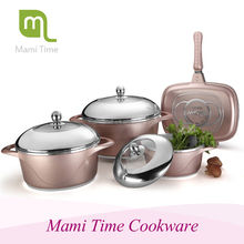 Good Quality tempered glass cooking pot cookware set