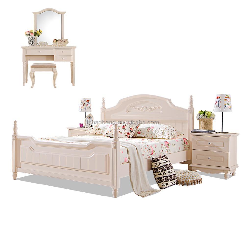 화이트 썰매 침대 5 개 현대 나무 침실 가구 세트-침실 세트 -상품 ...