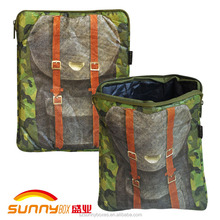 "Custom Anti-Tearing Tyvek Paper Camo Backpack Print Laptop Bag For Tablets Below 10.1"" With Zipper"