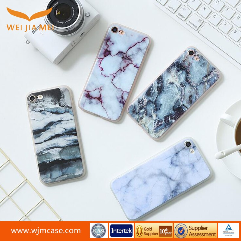 Marble Painted Mobile phone shell soft shell TPU creative case for iphone 7