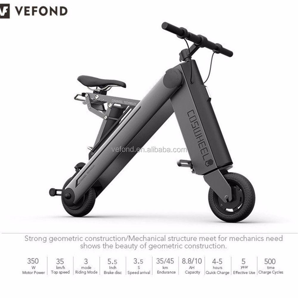 Red Dot Award Folding Coswheel 600w electric bicycle with Dual Brushless