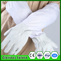 Beekeeping Equipment Bee Protective Gloves with Yellow Net Vented Long Sleeves High Quality