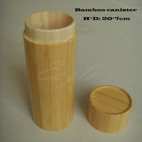 Natural bamboo tea coffee sugar canister with lid