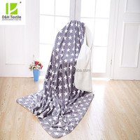 Two Layer Star Style Adult Flannel Festival Blanket