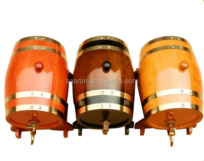Oak Material Wood Type Beverage Storage Boxes, Wooden Wine Barrels, Empty Mini Whiskey Barrel