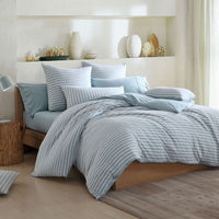 Stripe Printing Front Fabric Bed Cover Bedding Comforters