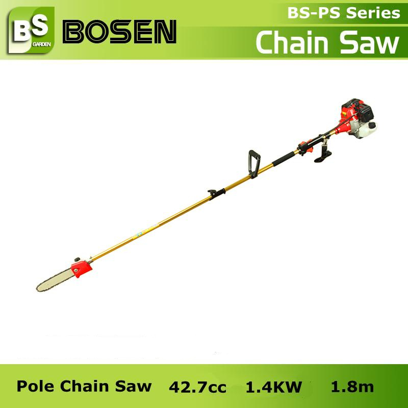 "26cc/33cc/43cc Gasoline Tree Pruning Pole Saw with 10"" 12"" Guide Bar"