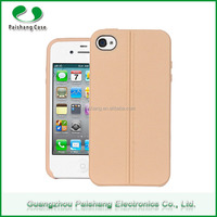 New Phone Case Product High Quality Soft TPU Two Line Design Leather Pattern Finish Case Cover for iPhone 4 / 5 / 6