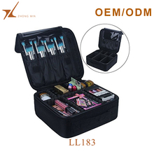 Portable travel makeup train hard case professional ladies cosmetic toiletry bag