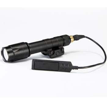 Airsoft LED Tactical Flashlight, Weaver Rails-Mountable Flashlight With Remote Pressure Switch