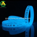 cheap custom silicone bracelet glow in the dark / UV green blue red yellow