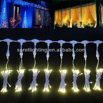 Christmas rubber cable led curtain light for wedding decoration 2mx3m