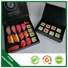 SGS institute certified cardboard food grade top quality sushi boxes
