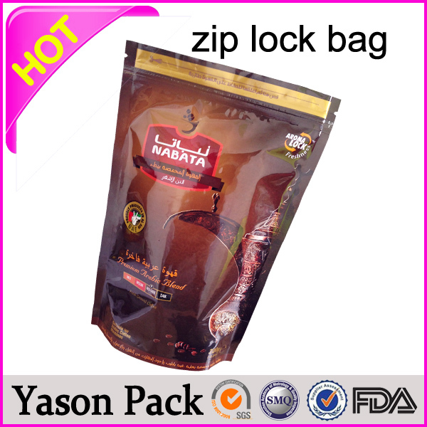 Yason opaque plastic ziplock bags stand up zipper bags with window bombay blue extreme foil zipper bags hot sale in uk