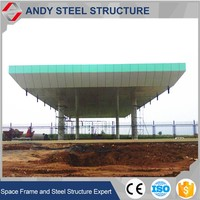 Steel Space Frame Truss Roof Covering for Toll Station