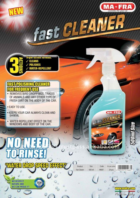 FAST CLEANER-FAST POLISHING CLEANER - FOR FREQUENT USE