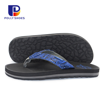 Beach Comfortable Slipper Flat Sandals EVA Thick Sole Flip Flop For Men