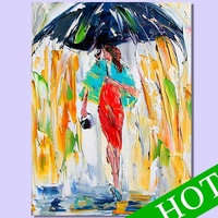 beautiful girls sex painting picture,Home wall decor abstract art painting umbrella girl