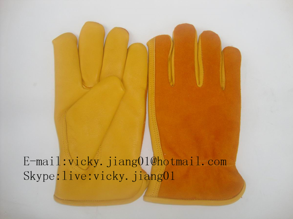 Full palm furniture leather winter garden gloves