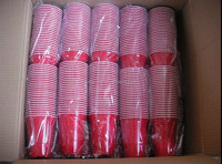 16oz disposable red plastic cup for Christmas Day!