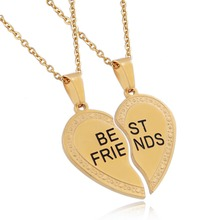 Couple Engravable Love Charm Pendant Heart Design In India Jewelry Golden Necklace