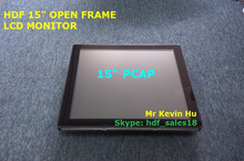 "low cost 15"" open frame tft lcd monitor, optional capacitive / resistive / surface acoustic wave saw / infrared ir touch screen"
