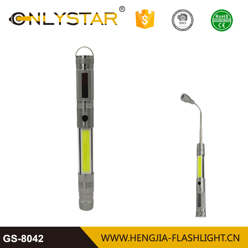 Foldable handle COB work light protable emergency torch led magnetic base telescopic antenna flashlight