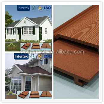 Wood plastic composite colored panels for walls
