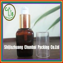 30ml amber square glass bottle with big cover