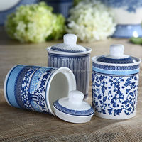 180CC Elegant New Bone China Small Coffee Canister