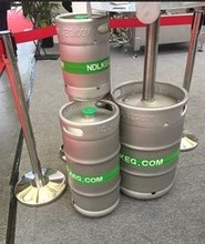 With 20 years experience US standard 1/6 bbl stainless steel beer keg