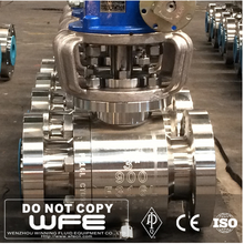 WFE API6D 304 316 Flanged forged steel Trunnion Mounted Hydraulic Actuator Ball Valve