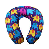 polystyrene memory foam beads sublimated neck pillow