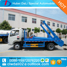 Dongfeng 3000L swing arm garbage truck, skip loader garbage truck, refuse collection vehicle bin