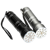 3 in 1 Multifunction 15 LED AAA Battery Operated Laser Ultraviolet Black Flashlight