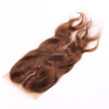 Silk closure virgin hair 100 human hair light brown silk closure