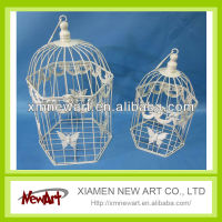 White metal Bird Cage Portable Bird Cage