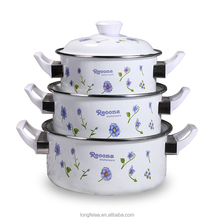 Wholesale Cookware 3pcs Enamel Casserole /Cooking Pot