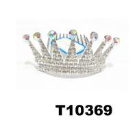 wholesale kids small rhinestone metal princess tiara crown