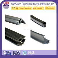 China Customized high temperature Black oven door rubber seal